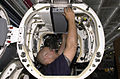 US Navy 030616-N-2143T-004 Aviation Electronics Technician 2nd Class James Gray from Bakersfield, Calif., works on an installation rack.jpg