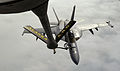 US Navy 040721-F-9528H-012 An F-A-18F Super Hornet refuels during a training mission exercise Cooperative Cope Thunder at Eielson Air Force Base, Alaska.jpg