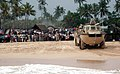 US Navy 050110-M-0764W-001 A U.S. Marine Corps amphibious vehicle prepares to bring Marines and Sailors aboard an awaiting Landing Craft Utility (LCU) at the end of the day's relief efforts in Colombo, Sri Lanka.jpg