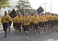 US Navy 080910-N-0483B-008 Chief petty officers and chief petty officer selects assigned to Fleet Activities Yokosuka and Naval Air Facility Atsugi (NAF) conduct a formation physical training run.jpg