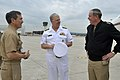 US Navy 100416-N-8273J-004 Adm. Gary Roughead is greeted during a stop at Naval Support Activity Naples.jpg