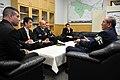 US Navy 110204-N-9818V-310 Leadership of the USS Fitzgerald (DDG 62) meet with Otaru police representative Masaru Ota during a port visit to Otaru.jpg