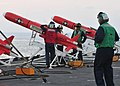 US Navy 110516-N-XR557-191 Sailors prepare drones aboard USS Tortuga (LSD 46) before an air defense gunnery exercise for U.S. and Royal Thai Navy s.jpg