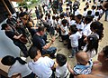US Navy 110524-N-NY820-720 U.S. Fleet Forces Band members play for school children during a community service event in Manta, Ecuador, in support o.jpg