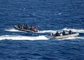US Navy 110706-N-ZI300-046 Sailors work with Chilean navy sailors during a maritime interdiction exercise.jpg