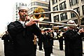 US Navy 111124-N-CD297-025 Musician 3rd Class Patrick Reynolds, from Clarksville, Tenn., and a member of the U.S. Navy Band Great Lakes, plays a tr.jpg