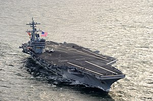 US Navy 111210-N-YX920-451 The Nimitz-class aircraft carrier USS George H.W. Bush (CVN 77) returns to Naval Station Norfolk.jpg