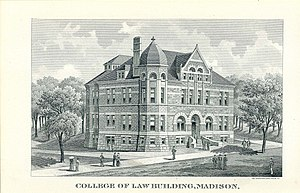 University of Wisconsin Law School - 1893 engraving of the University of Wisconsin College of Law building
