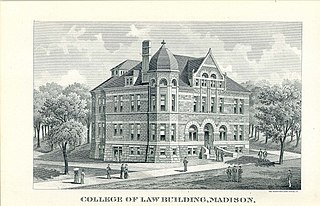 1893 Engraving of the University of Wisconsin College of Law building