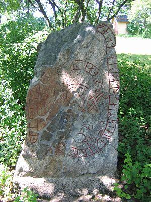 Hagby Runestones - The runestone U 154.