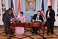 Under Secretary Burns and Indian Ambassador to the U.S. H.E. Meera Shankar Sign the U.S.-India Agreement for Nuclear Cooperation Conclusion of Reprocessing Arrangements and Procedures (4853923001).jpg