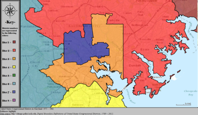 United States Congressional Districts in Maryland (metro highlight), 1973–1982.tiff
