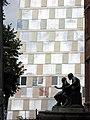 Universitätsbibliothek in Freiburg mit Homer und Aristoteles von Cipri Adolf Bermann.jpg