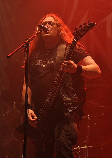 Johnny Hedlund of Unleashed, performing at Party.San Metal Open Air, 2013 Unleashed, Johnny Hedlund at Party.San Metal Open Air 2013.jpg