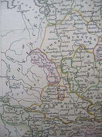 Prince-Bishopric of Münster - Münster and surrounding area on the eve of the French Revolution