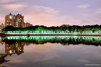 Upvan Lake - Image: Upvan Lake Night View
