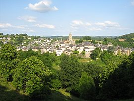 A general view of Uzerche