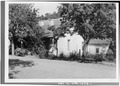 VIEW FROM THE ROAD - Adobe House, Almaden Road, New Almaden, Santa Clara County, CA HABS CAL,43-ALMA,6-1.tif