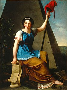 Allegorical painting of Liberty by Nanine Vallain