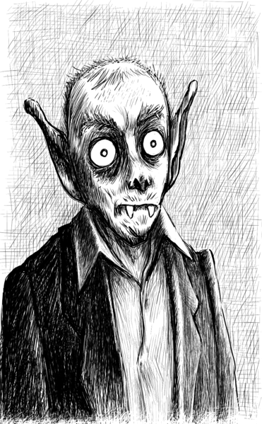 French vampire caricature from Wikimedia Commons