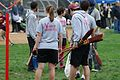 Vassar Butterbeer Broooers, muggle quidditch, Chestnut Hill College meet, October 2014.jpg