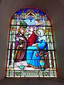 Vaux-Villaine (Ardennes) Église Saint-Remi, vitrail Sainte Famille.JPG