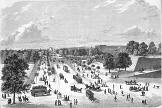 Vesterbrogade - Vesterbros Passage in 1867