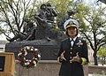 Vice Adm. speaks at a Vietnam Memorial wreath laying during Navy Week Austin. (33432620422).jpg