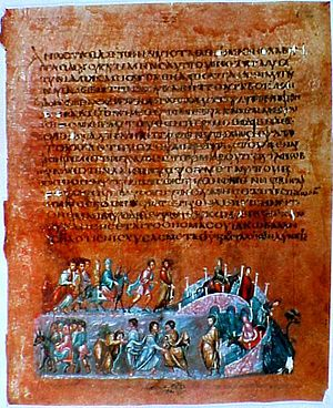 Vienna Genesis - The illustration on folio 12v from the Vienna Genesis shows the story of Jacob