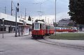 Vienna tram type M on line 5 at Praterstern 1976.jpg