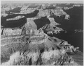 "View, dark shadows to right, high horizon, ""Grand Canyon National Park,"" Arizona., 1933 - 1942 - NARA - 519896.tif"