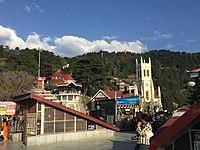 View of Jhakoo Hanuman from the Ridge.JPG