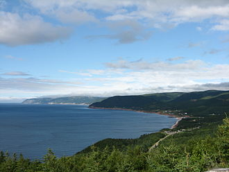 Pleasant Bay, Nova Scotia - Pleasant Bay seen from the Cabot Trail.