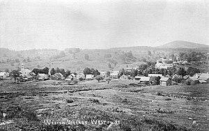Weston, Vermont - View of Weston village in 1908