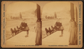 View of a woman looking at arriving stage coach, by Ingersoll, T. W. (Truman Ward), 1862-1922.png