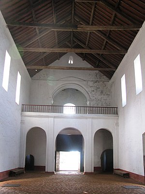 Church of Our Lady of the Rosary (Goa) - Entrance, view from the Main Altar.