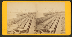 "View of levees showing ""mattrass ways"", by Theodore Lilienthal.png"