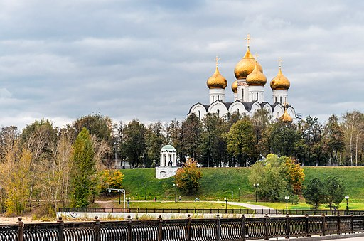 View to the Assumption Cathedral of Yaroslavl