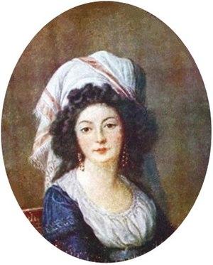 Adélaïde de la Briche - Portrait of Adélaïde de la Briche by Louise Élisabeth Vigée Le Brun.