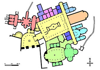 Villa Romana del Casale - Plan of the villa