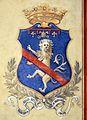Villa pecori giraldi, sala degli stemmi di pietro alessio chini e dei suoi figli e nipoti, stemma niccolini.jpg