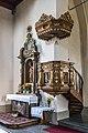 Villach Sankt Leonhard Pfarrkirche hl. Leonhard Kanzel 24092018 4773.jpg