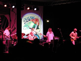 Vince Welnick - Vince Welnick (center) performing live in 2005