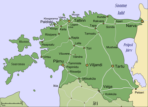 Rail transport in Estonia - All railway lines in Estonia (including demolished)