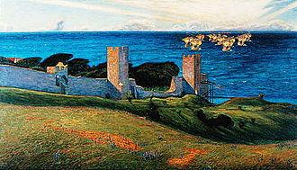 Richard Bergh - Image: Vision Motiv från Visby (1894) av Richard Bergh