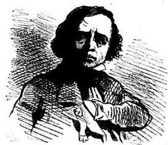 Alexandre-François Vivien - Caricature of Vivien by Cham (1850)