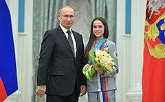 プーチン大統領とザギトワ