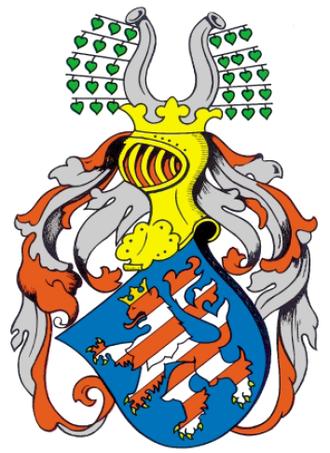 Duchy of Thuringia - Image: Vollwappen Wettiner Landgraf Albrecht 1265