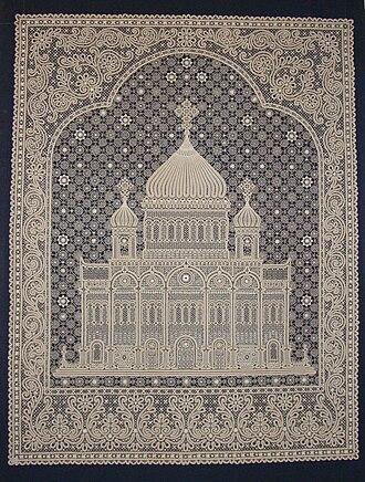 Russian lace - Image: Vologodskoe Krujevo