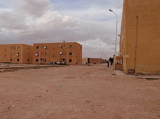 Ksour Range - Street in El Abiodh Sidi Cheikh, a town located below the southern slopes of the range.